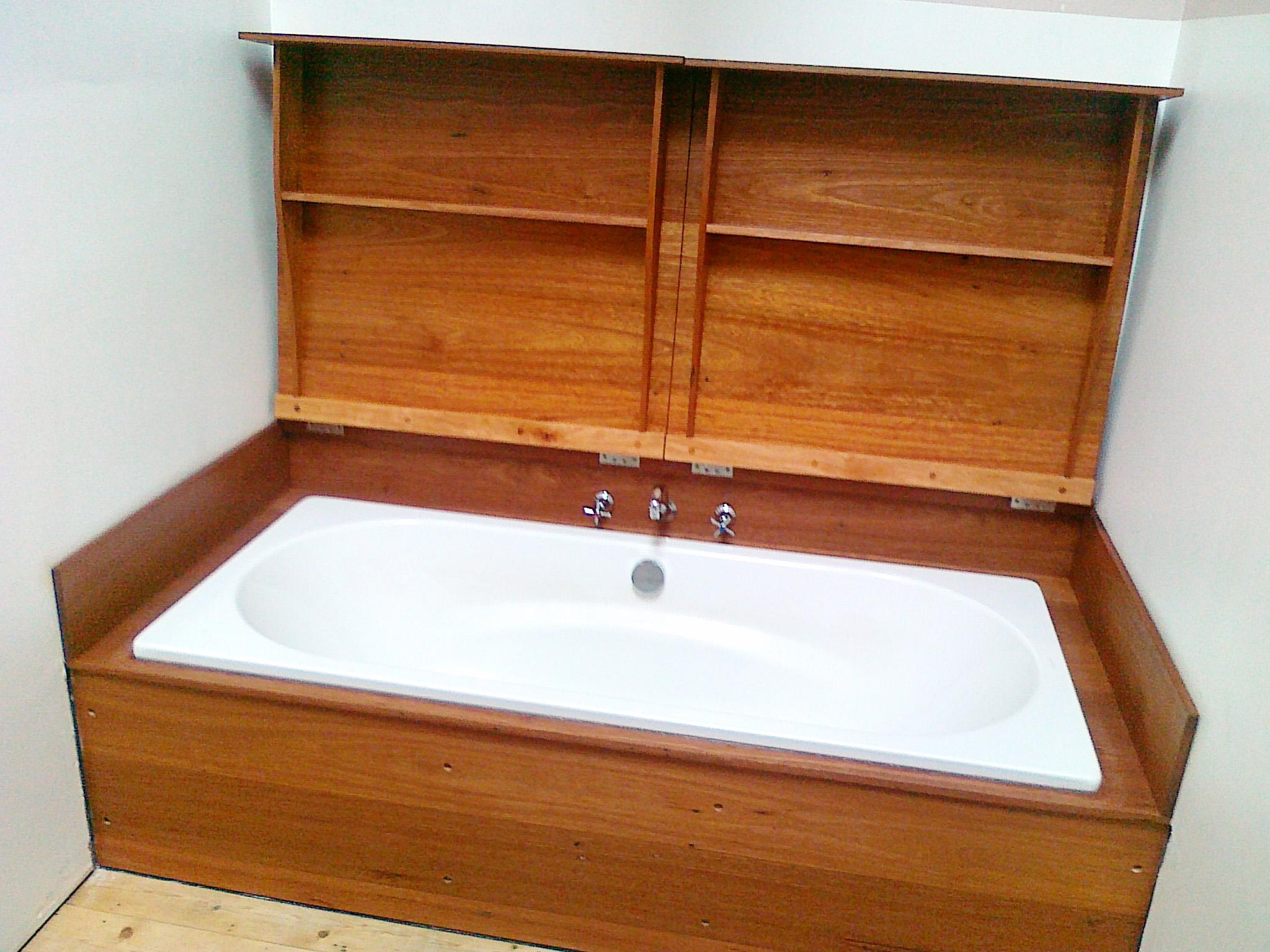 Sime Nugent Furniture custom wood bathroom fitout